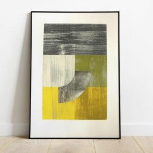 'Arc – Yellow' – full image, framed
