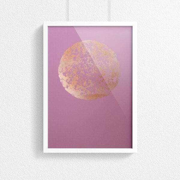'C12H22O11' –Pink - framed