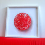Framed red Pastille print