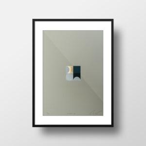 'Orbs – 2' – full image, framed