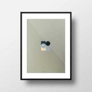 'Orbs – 3' – full image, framed