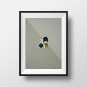 'Orbs – 4' – full image, framed