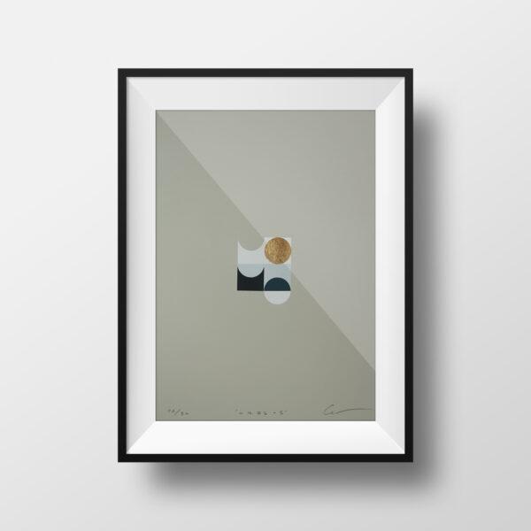 'Orbs – 5' – full image, framed