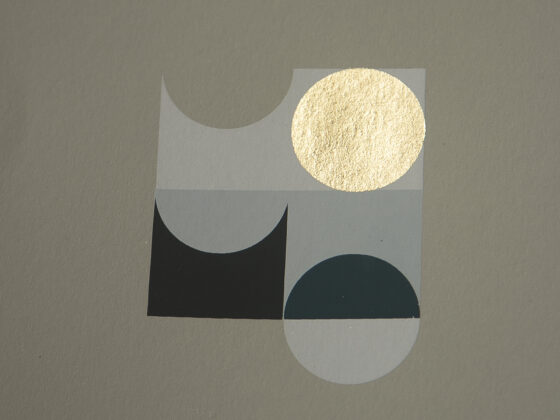 'Orbs – 5' – full printed area