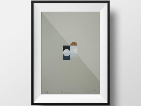 'Orbs – 6' – full image, framed