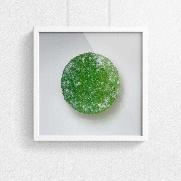 Pastille print - Green - framed