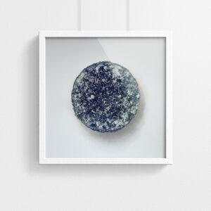 Pastille print - Purple - framed