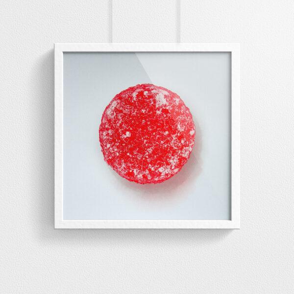 Pastille print - Red - framed