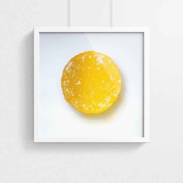 Pastille print - Yellow - framed