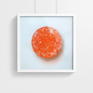 Pastille print - Orange - framed