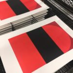 'Dawn 2 - Red' - partially printed
