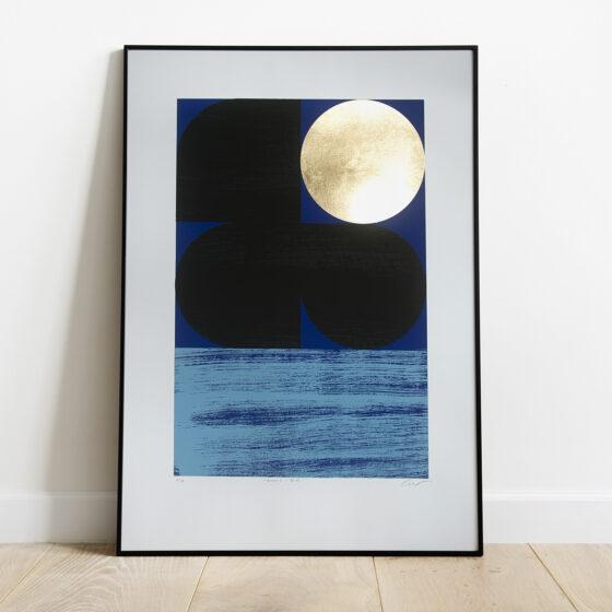 'Dawn 2 - Blue' Full print framed view