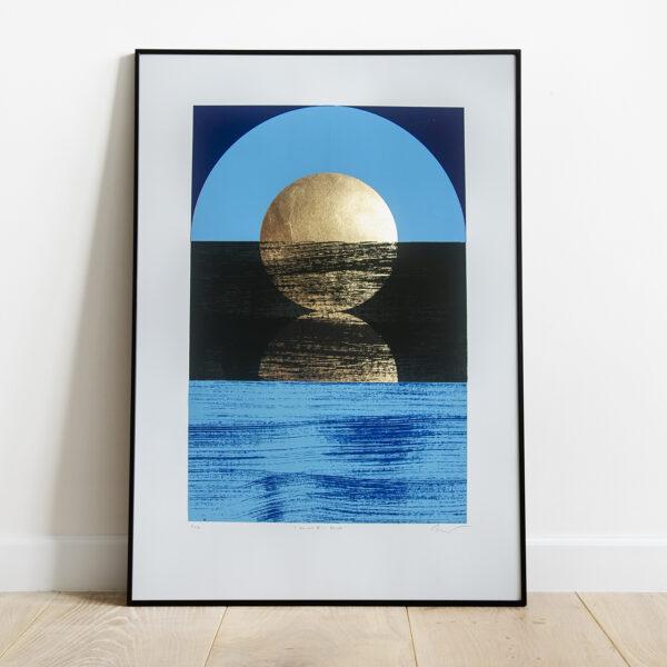 'Dawn 1 - Blue' Full print framed view