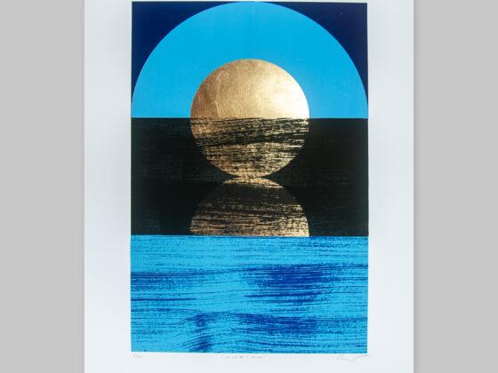 'Dawn 1 - Blue' Full print view