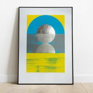 'Dawn 2 - Green' Full print framed view
