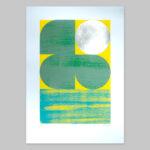 'Dawn 1 - Green/Yellow' Full print view