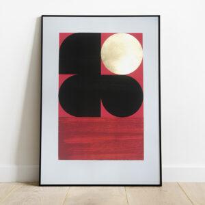'Dawn 1 - Red' Full print framed view