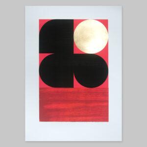 'Dawn 1 - Red' Full print view
