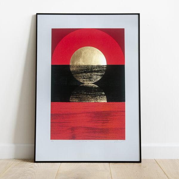 'Dawn 2 - Red' Full print framed view
